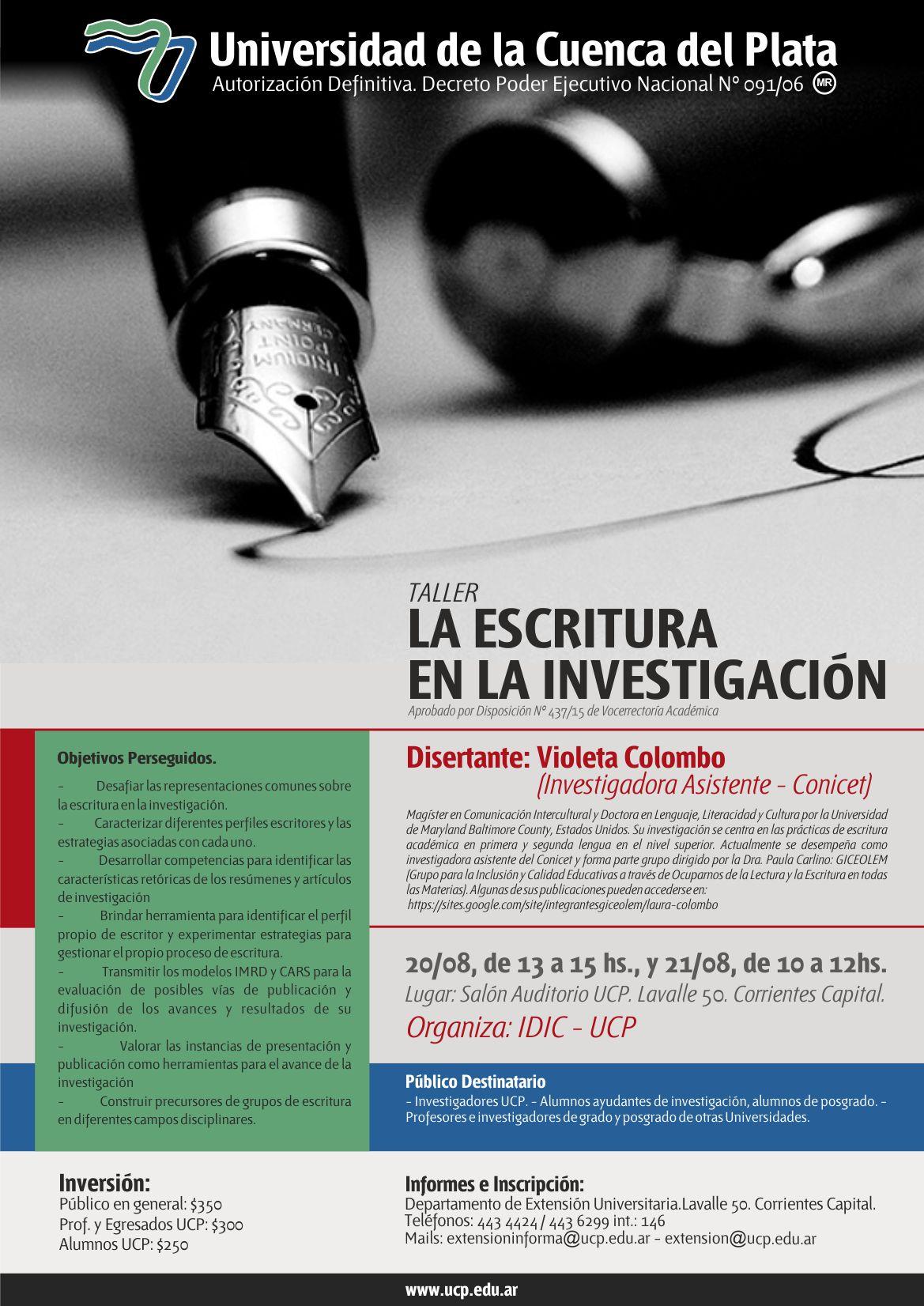 20-08-afiche La escritura en la Investigación
