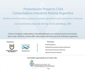 afiche CIAA - Ingenieria - CONICET UNNE
