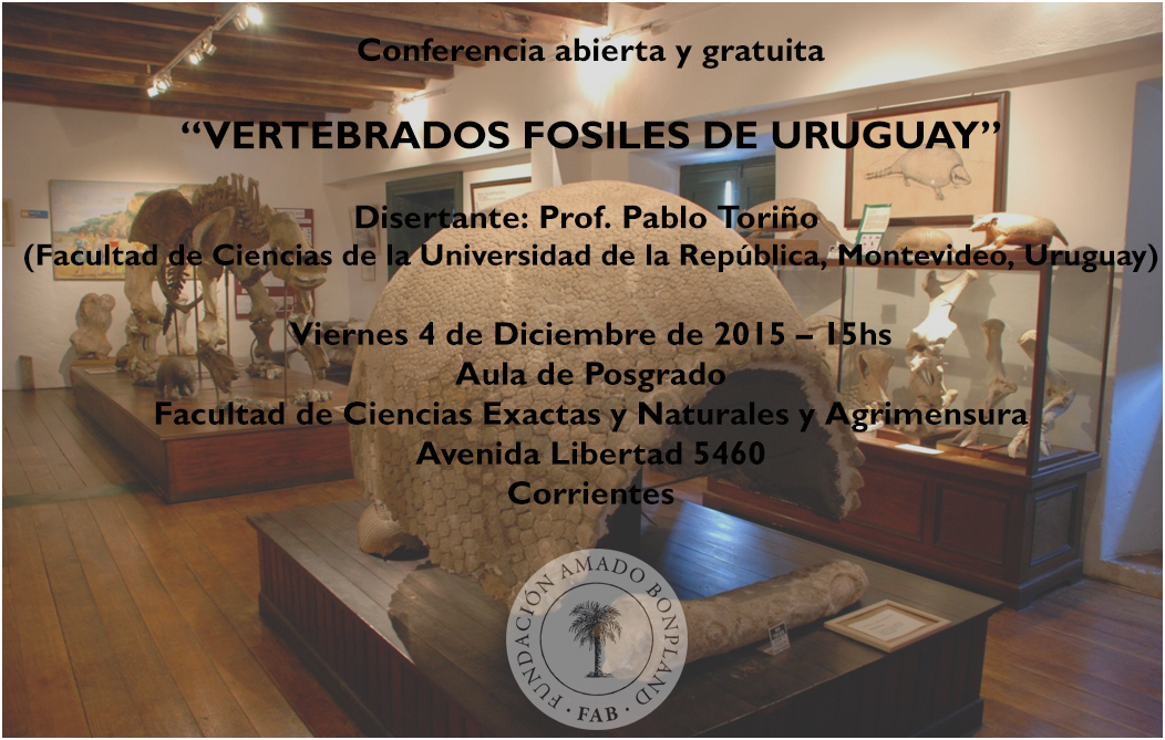 Charla Vertebrados fósiles de Uruguay